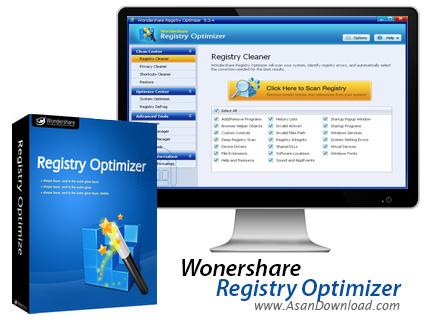 دانلود Wondershare Registry Optimizer v5.3 - نرم افزار بهینه سازی رجیستری