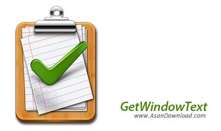 دانلود GetWindowText v3.01 - نرم افزار کپی متن پنجره های ويندوز