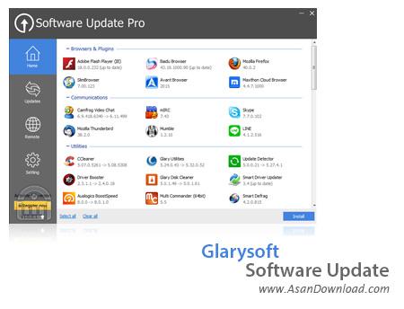 دانلود Glarysoft Software Update v5.35.0.28 - نرم افزار اطلاع از نسخه های جدید برنامه ها