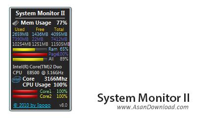 دانلود System Monitor II v25.8 - گجت نمایش اطلاعات سیستم