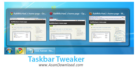 دانلود Taskbar Tweaker v5.0 - نرم افزار پیکربندی Taskbar ویندوز