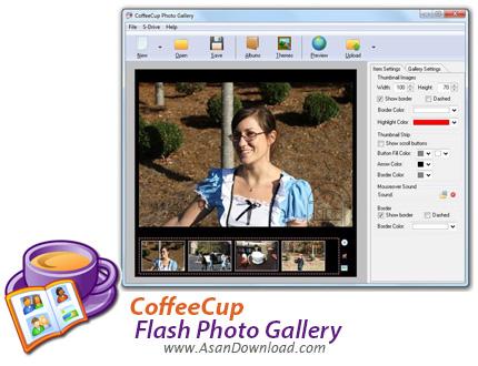 دانلود CoffeeCup Flash Photo Gallery v6.06 Build 14 - نرم افزار ساخت گالری عکس فلش
