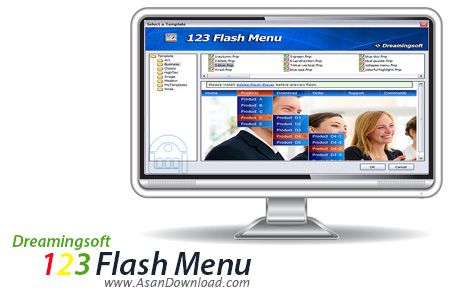 دانلود Dreamingsoft 123 Flash Menu v4.3.0.1700 - طراحی منوهای فلش برای سایت