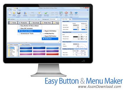 دانلود Blumentals Easy Button & Menu Maker Pro v5.2.0.36 - طراحی دکمه های تحت وب