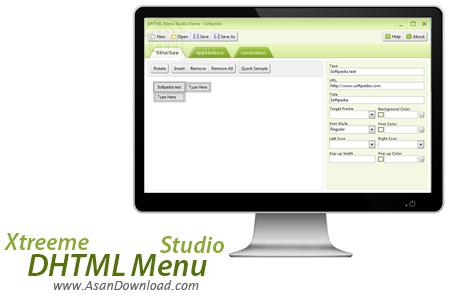 دانلود Xtreeme DHTML Menu Studio v5.0.0.146 - نرم افزار طراحی منوهای تحت وب