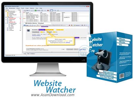 دانلود Aignes Website Watcher 2014 v14.3.0.100 - نرم افزار مانیتورینگ سایت ها جهت اطلاع از به روز رسانی و تغییرات آن ها